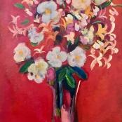 Buchner,  Carl | Still life, White Flowers
