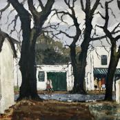 Sold| Botha, David |  Rainy day in Stellenbosch