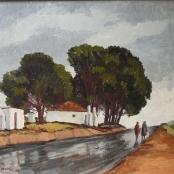 Sold | Botha, David | 2 Figures & House
