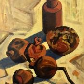Sold | Clarke, Peter | Still life of pomegranates