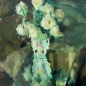 Serneels, Clement | White roses in vase