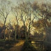 Sold |De Jongh, Tinus | Sunset in Landscape