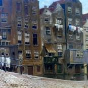 Sold | De Jongh, Tinus | Town Scene