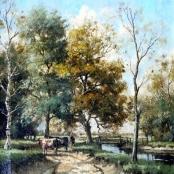 Sold | de Jongh, Tinus | Cows in Summer