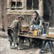Sold | de Jongh, Tinus | At the Market