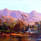Sold | De Jongh, Tinus | House by river