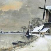Sold | De Jongh, Tinus | Winter landscape
