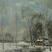 Sold | De Jongh, Tinus | Winter Scene