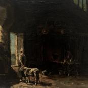 Sold | De Jongh, Tinus | Farm house interior