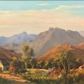Sold | De Jongh, Tinus | Landscape with farmhouse