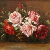 Sold | De Jongh, Tinus | Still life of Roses