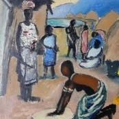 Sold | Domsaitis, Pranas | Figures between huts