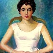 Sold | Domsaitis, Pranas | Portrait of a lady