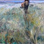 Sold | Eloff, Zakkie | Lion in bushveld