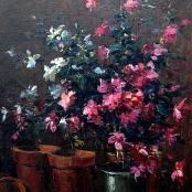 Sold | Boshoff, Adriaan | Still life Azaleas