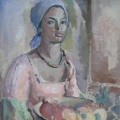 Sold | Hendriks, Anton Petrus | Portrait of a coloured girl