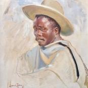 Zahn, Laurel | Portrait of a pensive man, Signed & dated 57