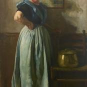 J.H Pierneef | The study of a woman of Walcheren