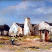 Sold | Klar, Otto | Houses on a landscape