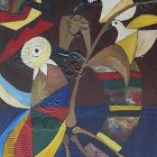 Sold| Mahlangu, Speelman |  Abstract with Birds