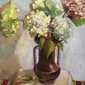 Lock, Freida | Hydrangeas in vase