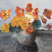 Sold |Oerder, Frans | Still life with Orange flowers