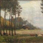 Sold|Oerder, Frans | Landscape with Cattle