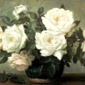 Sold | Oerder, Frans | Still life of  white roses