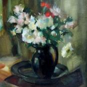 Sold |Serneels, Clement | Flowers in vase