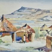 Battiss, Walter | Figures at huts