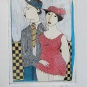 Sold | Van der Westhuizen, Pieter | The couple with hats