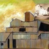 Sold | Van der Westhuizen, Pieter | Buildings on a landscape