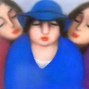 Sold | Van der Westhuizen, Pieter | Portrait of three ladies