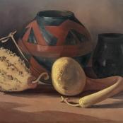 Pierneef, J.H | African clay pot with calabash