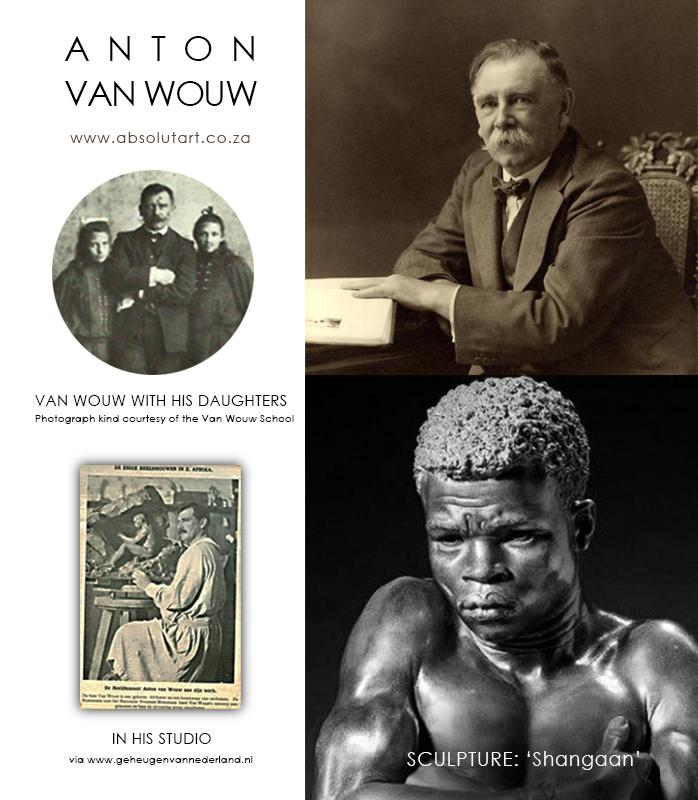 Photographs of Anton van Wouw and Shangaan sculpture